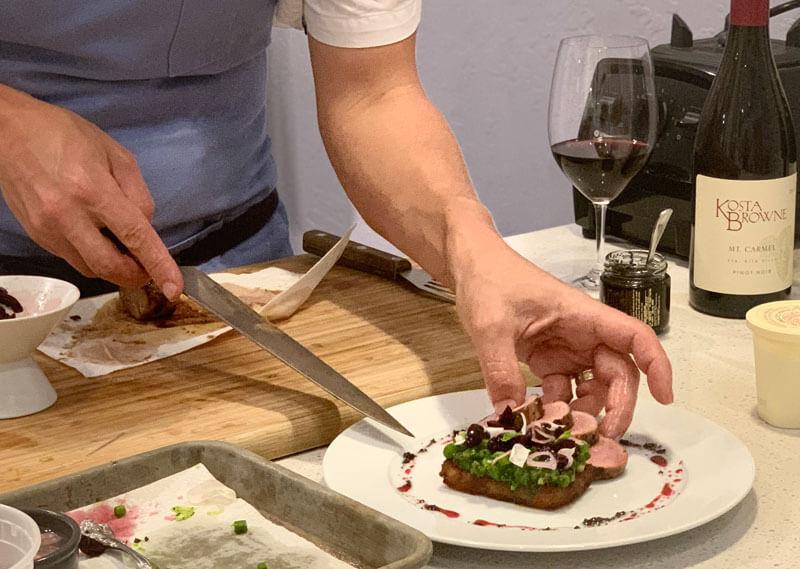 plating pork