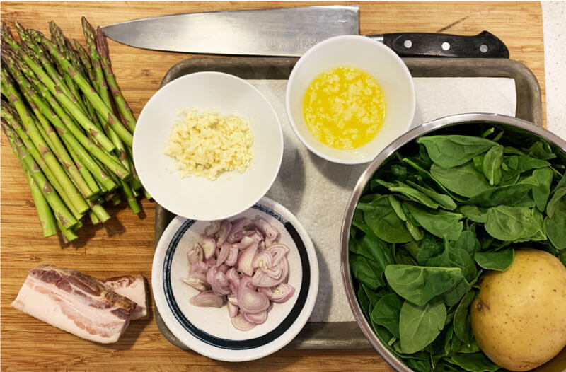 asparagus ragu ingredients